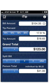 iTip is the perfect iPhone